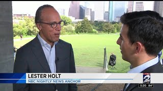 NBC's Lester Holt in Houston for 'Across America' Tour