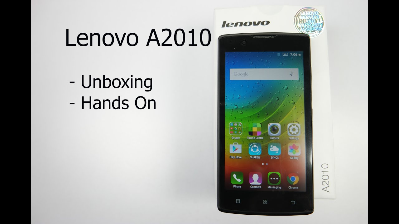 Lenovo A2010 Unboxing And Hands On Overview
