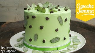 Epic Mint Choc Chip Layer Cake Recipe | Cupcake Jemma