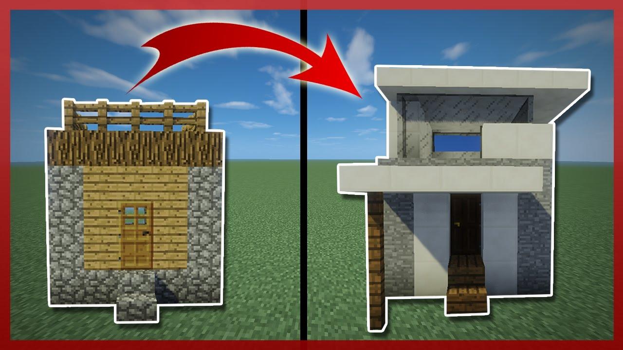 Minecraft como transformar una casa de aldeanos peque a for Como disenar una casa pequena