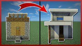 Minecraft: Como TRANSFORMAR una Casa de Aldeanos Pequeña | Tutorial