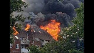 22.06.2019 - Voldsom brand i København