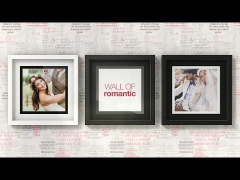 Romantic Photo Wall Gallery | After Effects template - YouTube
