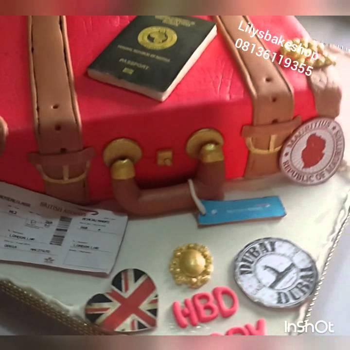 Lilysbakeshop travel/suitcase cake - YouTube