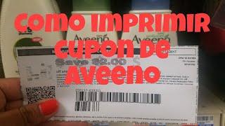 Como imprimir cupon de Aveeno