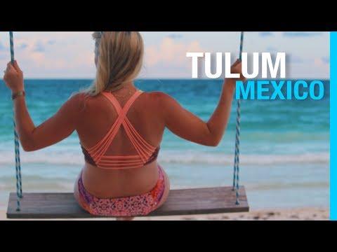 BEST BEACHES IN TULUM MEXICO TRAVEL VLOG  PART 2