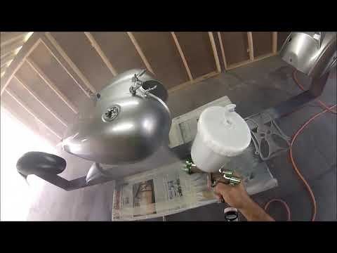 PAINTING A KAWASAKI VULCAN WITH METAL FLAKE AND CANDY PAINT