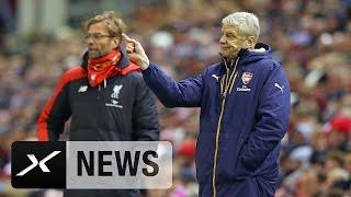 Arsene Wenger rät Jürgen Klopp: Beruhige dich!   FC Liverpool - FC Arsenal 3:3