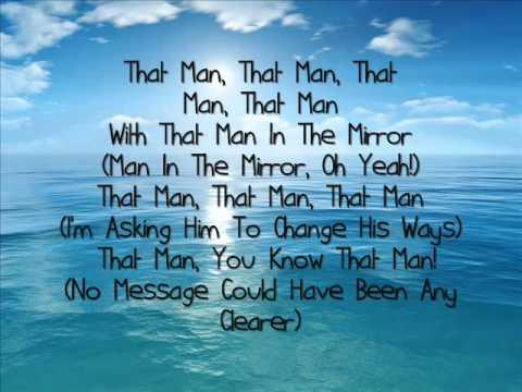 Michael Jackson - Man In The Mirror. (Lyrics).