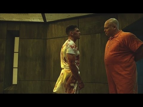 The Punisher & Wilson Fisk  Fight  In the Prison  Daredevil 2x09  2016 HD