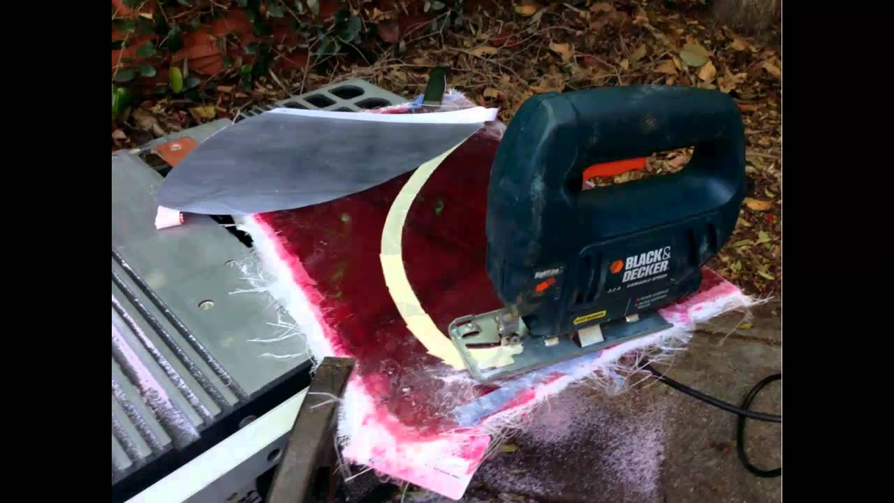 How to make a fiberglass fin for your surfboard youtube for How is fiberglass made