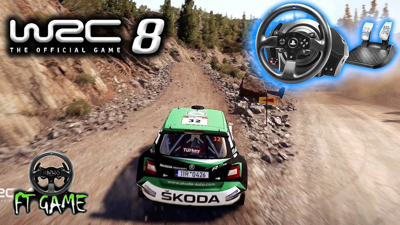 WRC 8 FIA World Rally Championship Gameplay and Thrustmaster Settings!