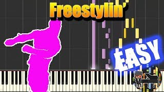 🎵 EASY Freestylin' - Fortnite [Piano Tutorial] (Synthesia) HD Cover