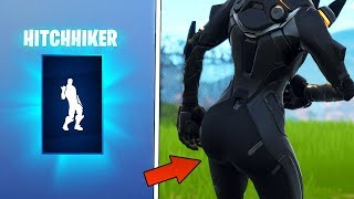 'NEW' HOT HITCHHIKER DANCE EMOTE 😍❤️ (AVEC 30 ' THICC FEMALE SKINS) FORTNITE SHOP