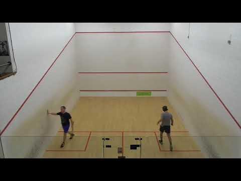 Masters squash MO40 QF3 Ian Cox NFK v David Gouldby NFK