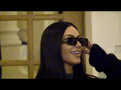 EXCLUSIVE : Gorgeous Kim Kardashian goes favorite restaurant in Paris