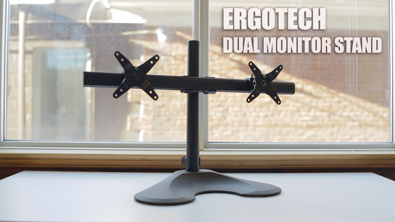 Ergotech Freedom Dual Monitor Desk Stand Review Youtube