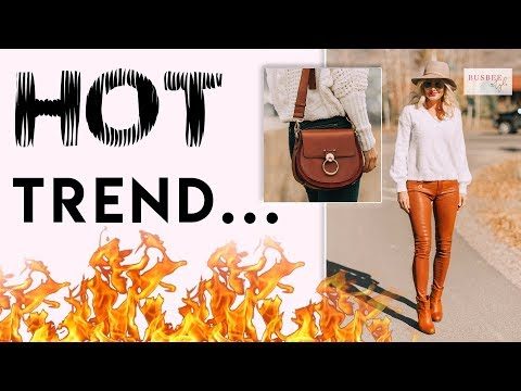 How To Wear Leather... One Of The Hottest Fashion Trends!