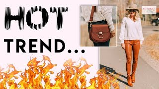 Hot Fashion Trend | 5 Ways To Wear Leather!