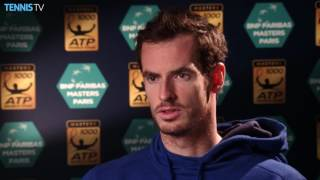 Andy Murray interview at 2016 Paris Masters: one match from No.1 ranking