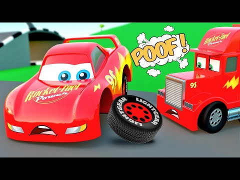 Cartoons with Cars: The Full COLLECTION 4+ HOURS – Mcqueen, Mack Truck & friends City of Little Cars