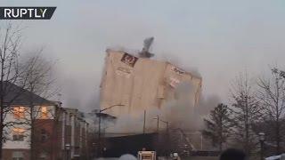 'White Ice Cube'  Iconic 55,000 ton building demolished in Atlanta
