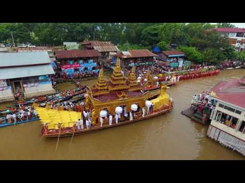Travel Burma Inle lake Phaung Daw Pagoda Festival, Myanmar