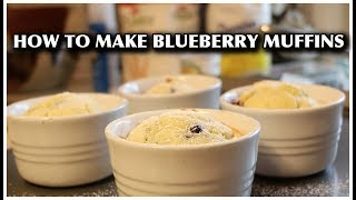 How to Make Blueberry Muffins in Ramekins