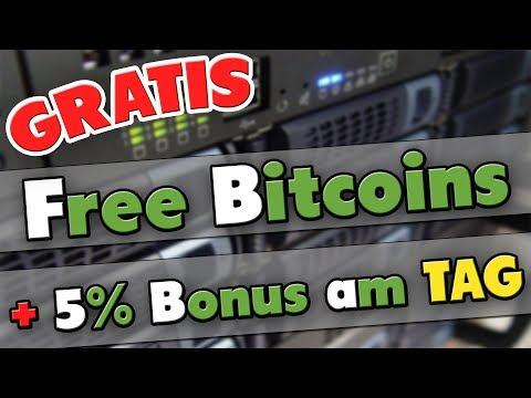 KOSTENLOS Bitcoin bekommen + 5% Bonus pro Tag | Bitcoin Mining #3