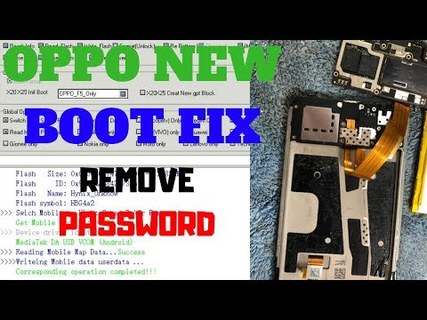 Remove Password Oppo A83|F5|F7|F9 New Boot By MRT Dongle