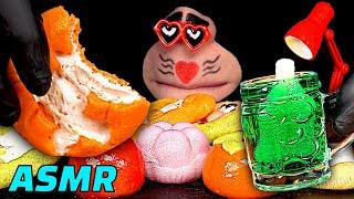ASMR 마시멜로쿠키, 과일 찹쌀떡, 닉클립 왁스병 먹…