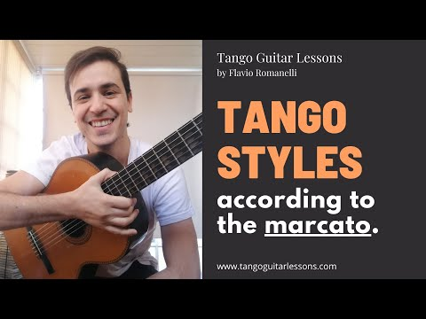 Tango guitar lessons - tango styles according to the marcato mp3