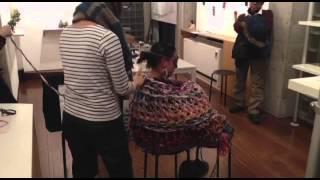2014.12.13 しましまい個展「糸の妄想」@ あしたの箱 パフォーマンス「やわらか緊縛show」