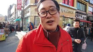 양평 대목장터 구경하다 만난 김선교 후보 인터뷰