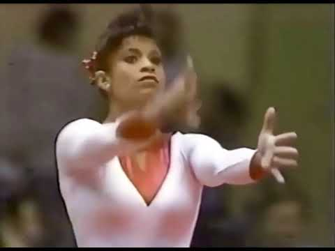 Throw Black#1: Amazing Gymnast shows her MOVES from the 1980s