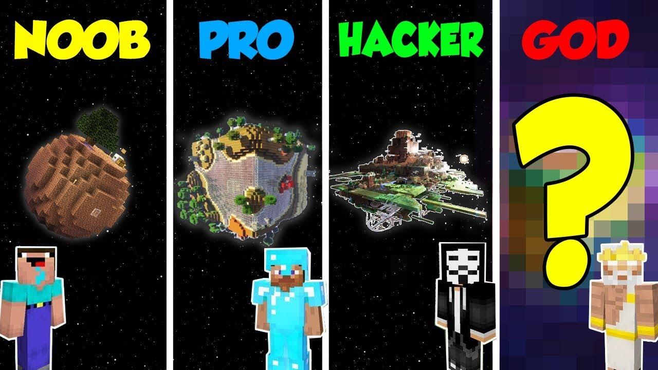 Minecraft Noob Vs Pro Vs Hacker Vs God Secret Planet Base