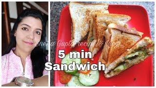 5 minutes Sandwich Recipe| Kids lunch box idea| Quick breakfast Recipe