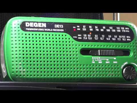 Degen DE 12 solar radio Radio exterior Espana 6055 khz