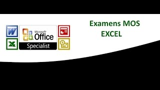 Certif Microsoft office : Correction de l'examen mos excel 2010,  Partie 1