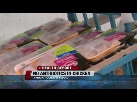 Tyson chicken saying no to antibiotics in meat