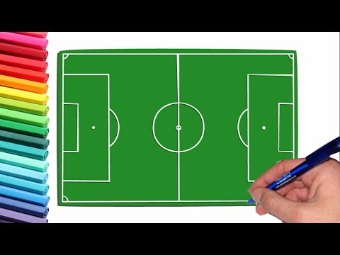 How To Draw A Soccer Field || (very Easy)