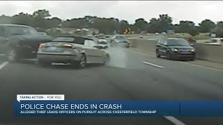 Chesterfield Township police chase ends in crash