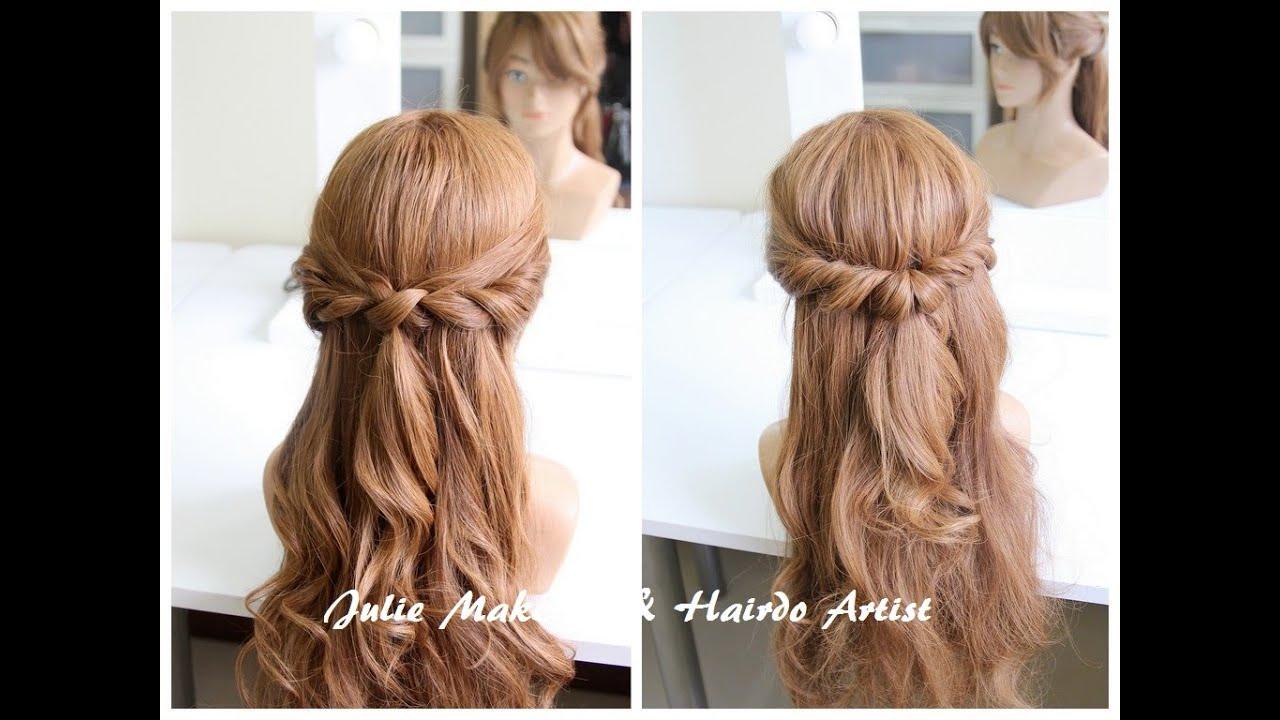 2種簡易公主頭綁法教學 2 Half Up Hairstyles With Updo Stick Youtube