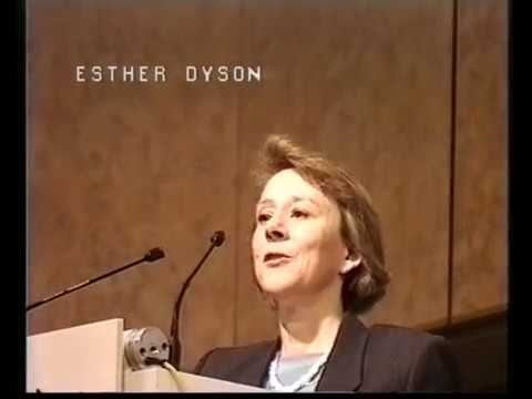 Esther Dyson and Peter M. Winter in Zurich, 1995 Interactive Publishing