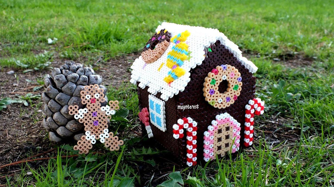 DIY CAJA o DULCERO casa de jengibre (hama beads) | Navidad - YouTube