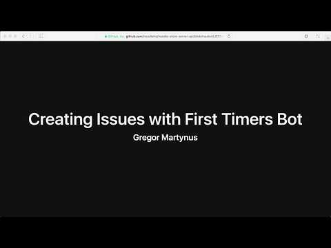 Creating Issues with the First Timers Bot