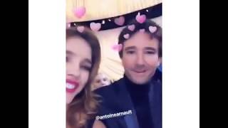 Natalia Vodianova - With Antoine Arnault at a fashion show