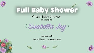 Full Virtual Baby Shower! 2020 (games Included)