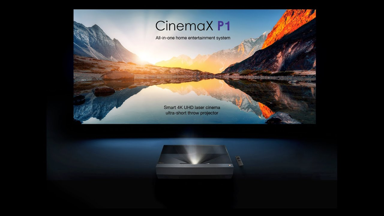 First Look: Optoma CinemaX P1 Smart 4K UHD Laser Ultra Short Throw Projector