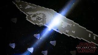 Minecraft StarWars: The Last Jedi (Hyperspace Crash) Scene Recreation